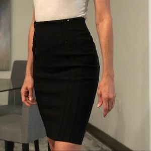 Bebe black pencil skirt with studs